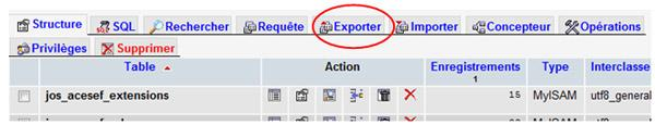 Bouton exporter