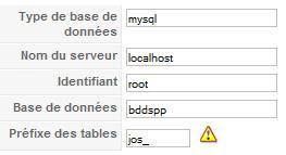 Fichier de configuration Joomla