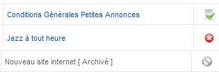 Articles archivés