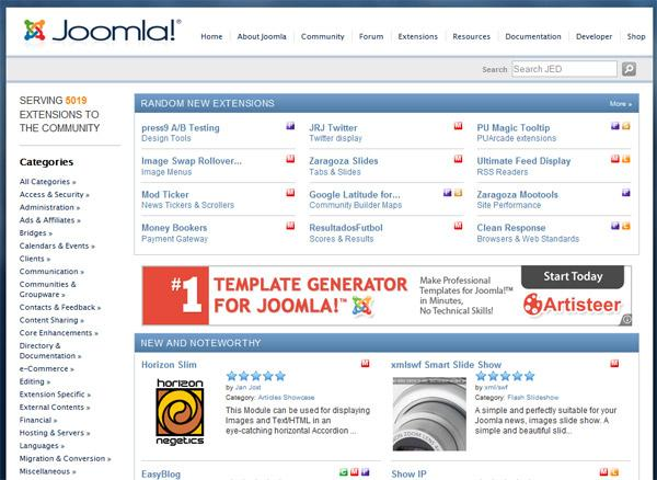 Extensions Joomla