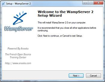 Installation Wamp Server