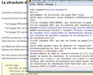 La Structure D Une Page