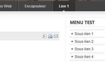 Sous-menu en frontal