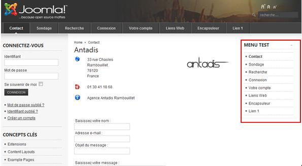 Page interne du site