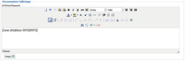 Le module HTML personnalisé en action